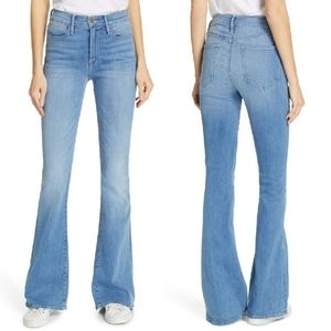 Frame Le High Flared Jeans In Free Bird